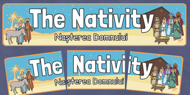 Nativity Display Banner Romanian Translation - romanian, nativity, display banner, christmas, display, banner