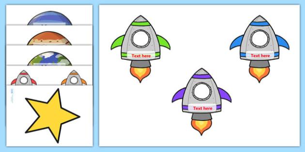 Space Class Display Reward Chart - space, reward chart, rewards