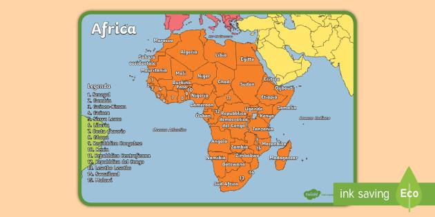 Cartina Del Mondo Con Continenti.I Continenti Del Mondo Africa Poster Teacher Made