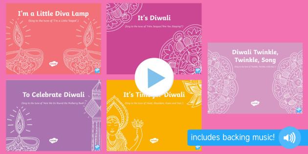 Diwali Songs and Rhymes PowerPoints Pack