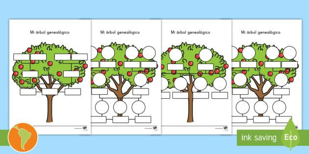 ficha de actividad mi árbol genealógico árbol familiar