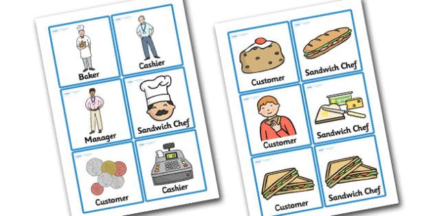 Sandwich Shop Role Play Badges - sandwich shop, role play, badges, role play badges, sandwich shop badges, badges for sandwich shop, sandwich shop people