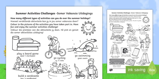 Summer holiday challenges englishafrikaans summer holidays summer holiday challenges englishafrikaans summer holidays summer holidays activities fandeluxe Gallery