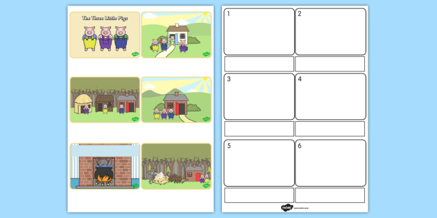 The Three Little Pigs Story Sequencing Simplified - australia