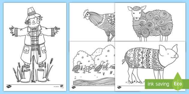 Ausmalbilder Tiere Vom Bauernhof Ausmalbilder