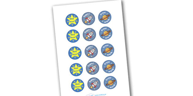 Space Round Stickers - space, astronaut, planets,round stickers, stickers, rocekt, space ship, alien, moon