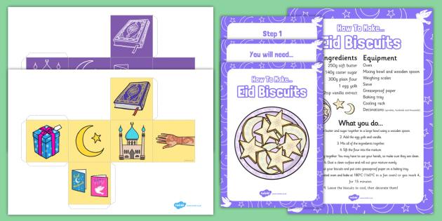 Making Eid Biscuits EYFS Resource Pack - making, eid biscuits
