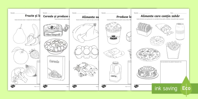 O Alimentație Sănătoasă Pagini De Colorat Sănătate Rutina
