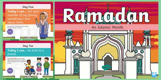 new eyfsks1 ramadan kindness calendar powerpoint