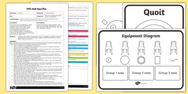 EYFS Dinosaur Skeletons Adult Input Plan and Resource Pack