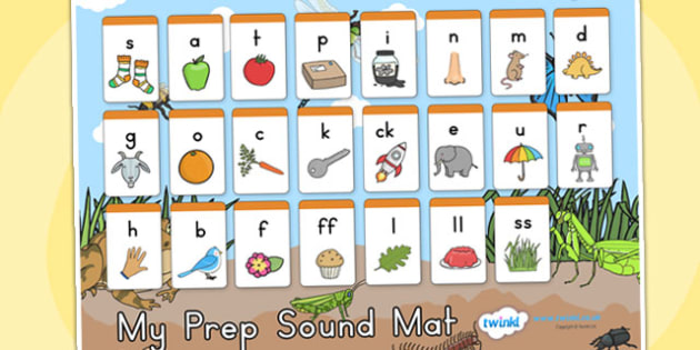Minibeasts Prep Sound Mat - sounds, sounds mat, prep sounds