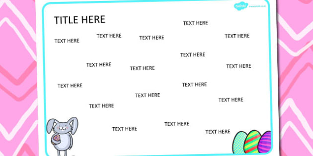 Easter Themed Editable Word Mat - literacy, writing, visual aids