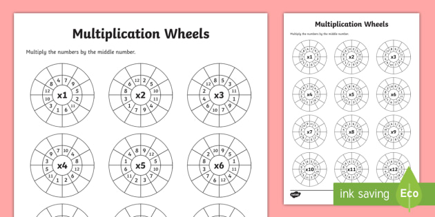 multiplication wheels worksheet activity sheet. Black Bedroom Furniture Sets. Home Design Ideas