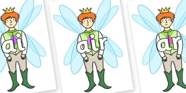 Phase 3 Phonemes on Fairy Prince - Phonemes, phoneme, Phase 3, Phase three, Foundation, Literacy, Letters and Sounds, DfES, display