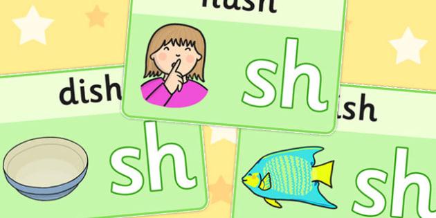 Final 'Sh' Sound Playdough Mats - final sh, sound, playdough