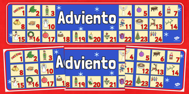 Advent Christmas Display Banner Spanish - spanish, advent, christmas, display banner, display