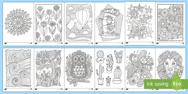 Adult Mindfulness Colouring