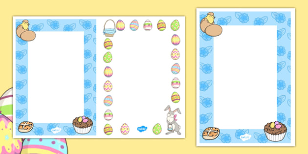 Editable Easter Card Insert Template  Editable Easter Card