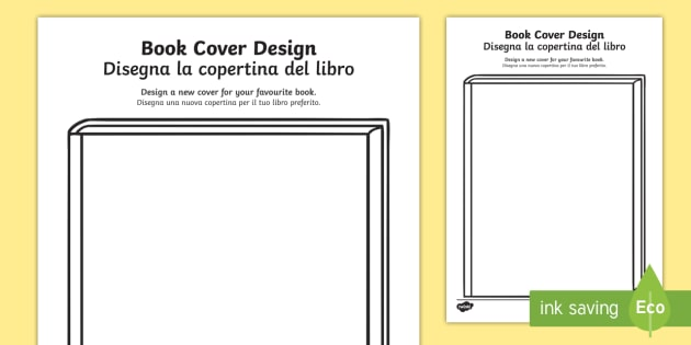 Book Cover Template Twinkl ~ New design a book cover activity sheet english italian