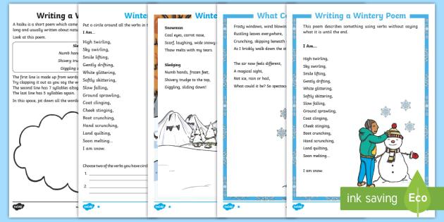 Ks1 Winter Poetry Resource Pack Understanding Poetry Reading