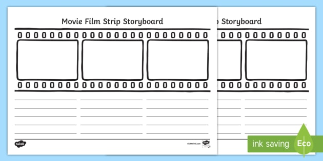 Movie film strip storyboard template movie film strip for Film strip picture template