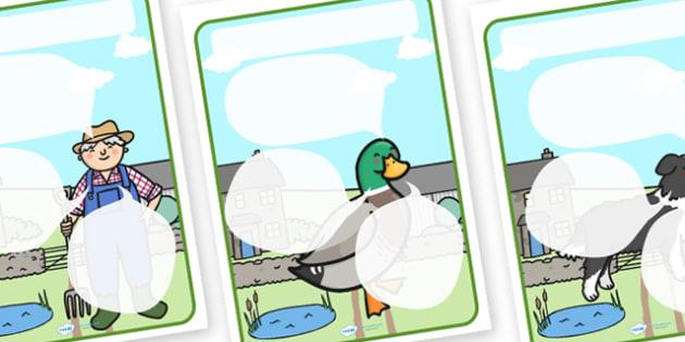 Farm Themed Target Posters Speech Bubbles - farm, farm themed, target posters, targets, class targets, themed targets, class management, posters, animals
