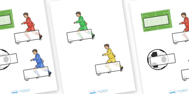 The Olympics Football Self Registration - Football, Olympics, Olympic Games, sports, Olympic, London, 2012, Self registration, register, editable, labels, registration, child name label, printable labels, activity, Olympic torch, events, flag, countr