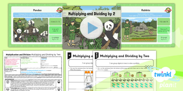 PlanIt Maths Y1 Multiplication and Division Lesson Pack Multiplying and Dividing by Two (3)