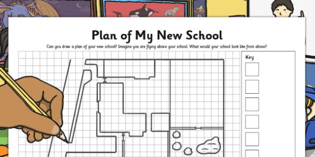 Plan of My New School - plan, new school, new, school, transition