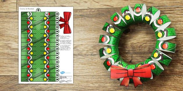 Corona de Navidad  - navidad, decoración, adornos,Spanish