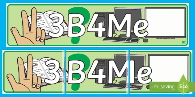 3b4Me Display Banner - New Zealand Back to School, 3B4Me, C3B4Me, see three before me, three before me, banner, display