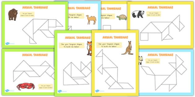 Tangram Animals Activity Booklet (Australia) - activities, craft