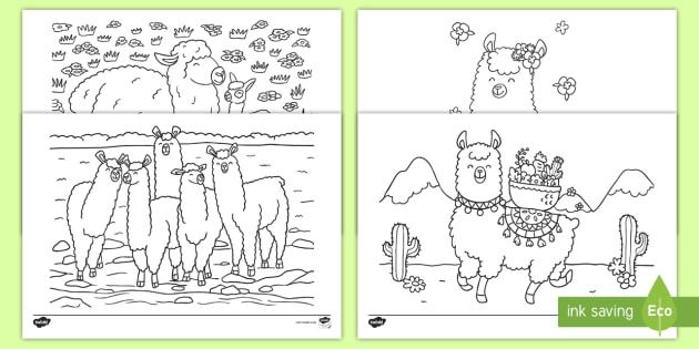 Llama! Free and printable coloring page by Karma Gifts | Coloring ... | 315x630