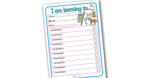 Themed Target and Achievement Sheets Animal Themed - Target and Achievement, Target and Achievement Sheet, Target Sheet, Animal Themed