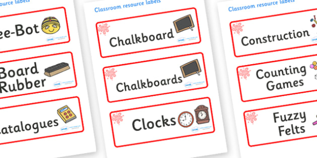 Red Themed Editable Additional Classroom Resource Labels - Themed Label template, Resource Label, Name Labels, Editable Labels, Drawer Labels, KS1 Labels, Foundation Labels, Foundation Stage Labels, Teaching Labels, Resource Labels, Tray Labels, Prin