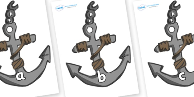 Phase 2 Phonemes on Anchors - Phonemes, phoneme, Phase 2, Phase two, Foundation, Literacy, Letters and Sounds, DfES, display