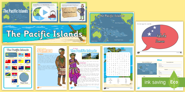 Pacific Islands Resource Pack - pacific Islands, tonga, samoa, displays, resource pack, new zealand year 1-3