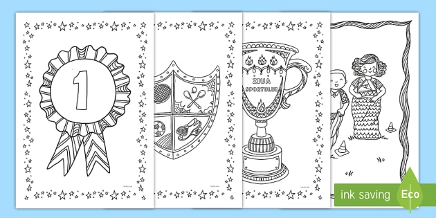 - Sports Day Themed Mindfulness Coloring Sheets English/Romanian - Sports Day