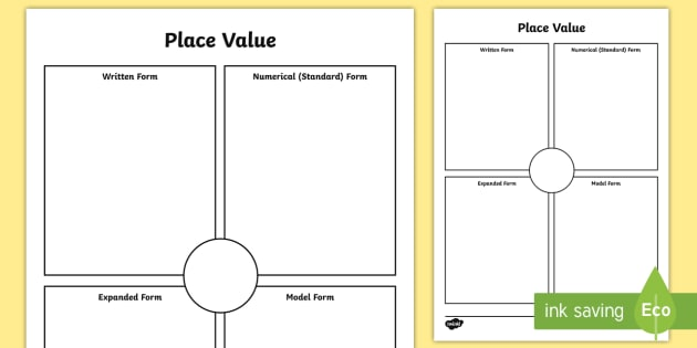 Place Value Worksheet Activity Sheet Expanded Form Simple