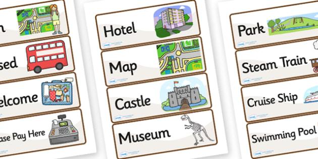 Tourist Information Role Play Labels - tourist information, role play, tourist role play, labels, tourist labels, role play labels, information labels
