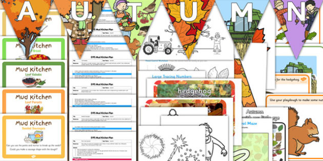 Autumn Resource Pack for Childminders - child-minders, seasons, leaves, change, display, resources, activities
