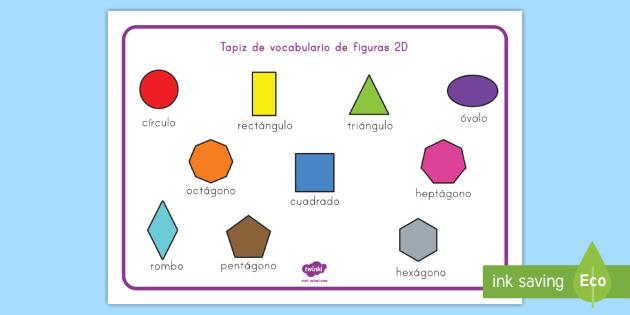 Tapiz De Vocabulario Figuras 2d Tapiz De Vocabulario Figuras 2d