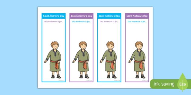 Saint Andrew's Day Bookmarks-Scottish