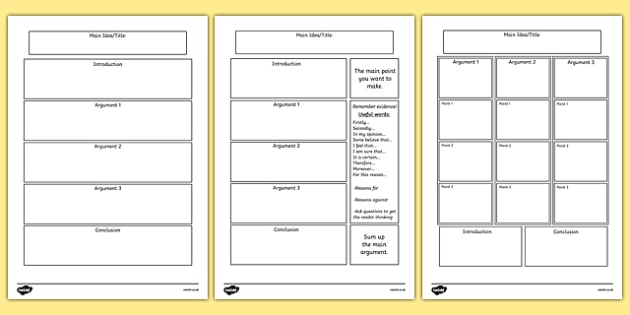 Persuasive Writing Template Persuasive Writing Template