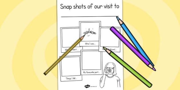 Our Visit to Snapshot Writing Frame - snapshot, writing frame