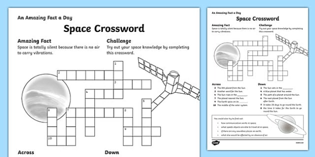 spacecraft crossword - photo #3
