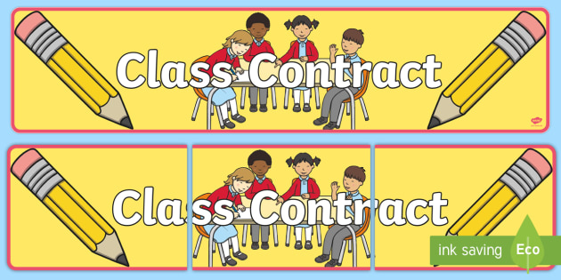 Our Class Contract Banner Banner Class Contract Start Of Year Rules