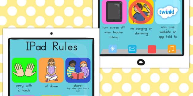 iPad Rules Display Posters - computers, displays, poster, visual
