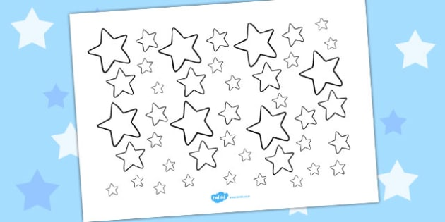 Star Display Cut Outs White - australia, display, star, cut out