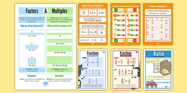 UKS2 Maths Number Display Pack - uks2, maths, number, display, pack